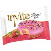 Пончик DONAT INVITE (клубничная начинка) 40 грамм