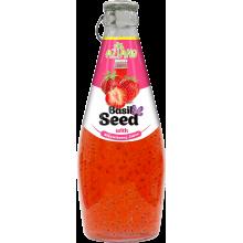 Напиток AZIANO Basil seed Strawberry Juice, 290ml
