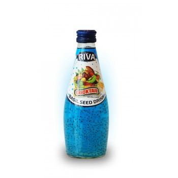 Напиток Riva со вкусом фруктового коктейля и семенами базилика, 290 мл