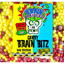 Кислые конфеты Brain Blasterz Candy Brain Bitz лимон, малина 45 г