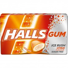 Жевательная резинка Halls Ice Rush Citrus 18 г