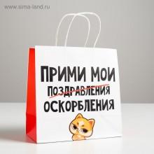 Пакет подарочный «Поздравления»