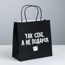 Пакет подарочный «Так себе, а не подарок»
