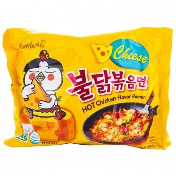Лапша со вкусом курицы и сыра, острая Samyang, 140 гр