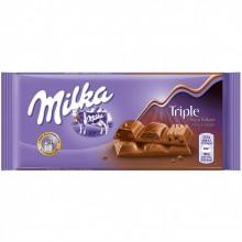 Шоколад Milka Triple Choco Cocoa (тройной шоколад)