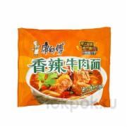 Пшеничная лапша со вкусом пряной острой говядины Kang Shi Fu Hot Beef Noodle, 103 гр