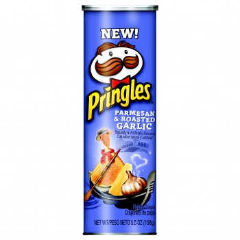Pringles Parmesan & Roasted garlic пармезан и жареный чеснок 158 гр